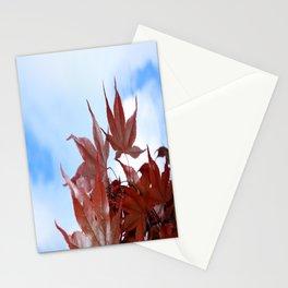 red leaf sky Stationery Cards