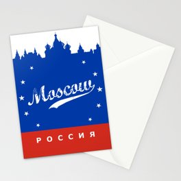 Moscow City, Russia, poster / Москва, Россия Stationery Cards