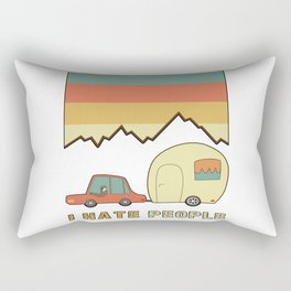 I Hate People Humans Holiday Sloth Camper Camping Design Rectangular Pillow