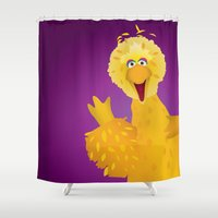 muppets Shower Curtains featuring Big Bird - Muppets Collection by Bryan Vogel