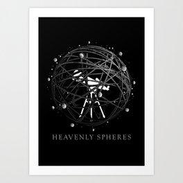 Heavenly Spheres Art Print