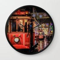 istanbul Wall Clocks featuring Istanbul by Seza Kaymak