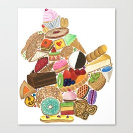 Brooklyn Dessert Map Canvas Print