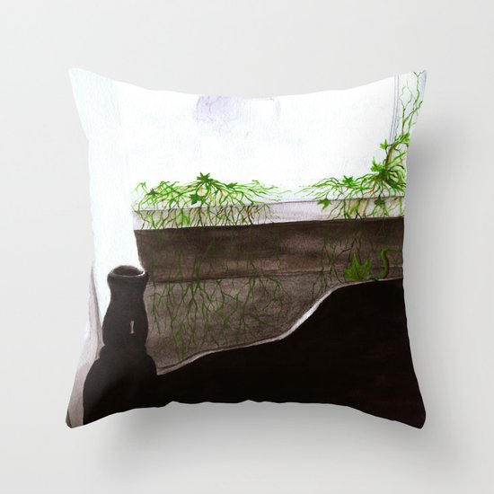 """""""Give Up"""" by Cap Blackard Throw Pillow"""