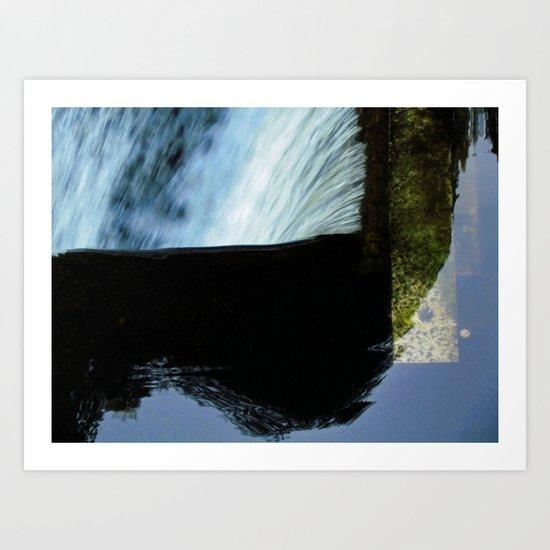 Reflective Waterfall Art Print