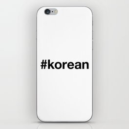 KOREAN iPhone Skin