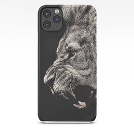 Angry Male Lion iPhone Case