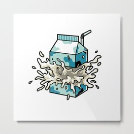 Milk Metal Print