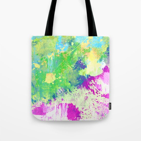 Love Colour (Abstract, colourful painting) Tote Bag
