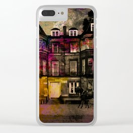 Edinburgh Tenement Idealised Clear iPhone Case