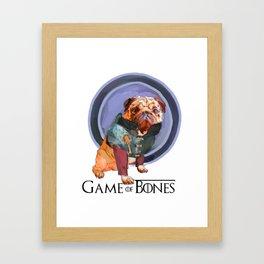 Game of Bones Tyrian as a Pug Framed Art Print