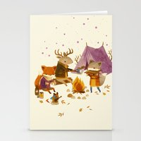 camping Stationery Cards featuring Critters: Fall Camping by Teagan White