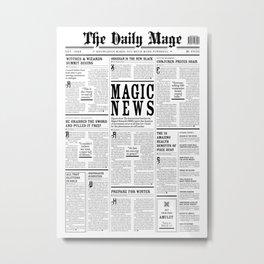 The Daily Mage Fantasy Newspaper Metal Print