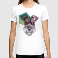 schnauzer T-shirts featuring Schnauzer by MOSAICOArteDigital