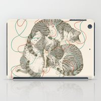 a lot of cats iPad Cases featuring cats by Laura Graves