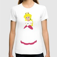 princess peach T-shirts featuring Princess Peach - Minimalist #2 by Adrian Mentus