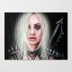 Sword In the Dark: A Gothic Warrior Canvas Print