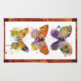 3 farfalle Rug