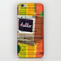 mac iPhone & iPod Skins featuring Hello Mac by Roberlan Borges