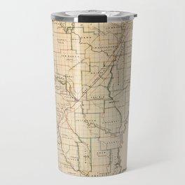 Vintage Map of Arkansas (1866) Travel Mug