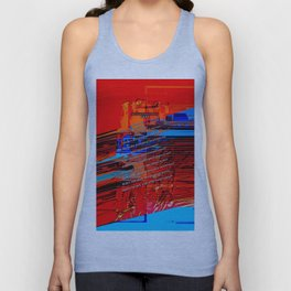 Cells Interlinked - Bold Red and Blue Unisex Tank Top
