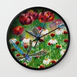 Dusk In The Garden Wall Clock