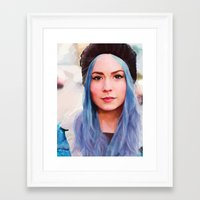 gemma correll Framed Art Prints featuring Gemma by Tina Rojas
