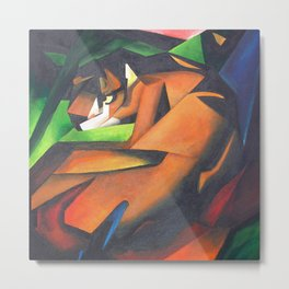 Tiger After Franz Marc Metal Print