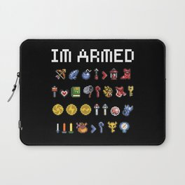 "The Legend of Zelda - Weapons / Items - ""I'm Armed"" Laptop Sleeve"