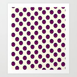 JoJo - Giorno Giovanna Pattern [Anime Logo Ver.] Art Print