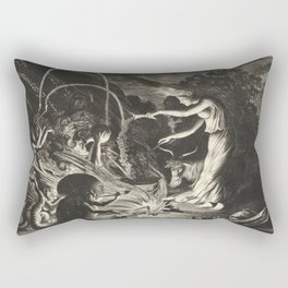 Witch - 17th Century Illustration Rectangular Pillow