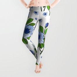 Floral background Leggings