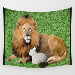 Lion and Lamb Wall Tapestry