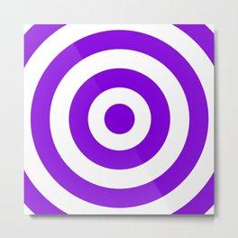 Target (Violet & White Pattern) Metal Print