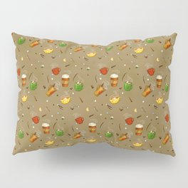 Autumn Drinks Pattern Pillow Sham