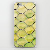 the wire iPhone & iPod Skins featuring Chicken Wire by Dawn Patel Art