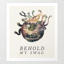 Beholder (Typography) Art Print