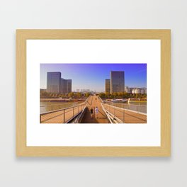 Passerelle Simone de Beauvoir  Framed Art Print