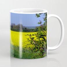 Rapeseed Field, UK  (Brassica napus Linnaeus) Coffee Mug
