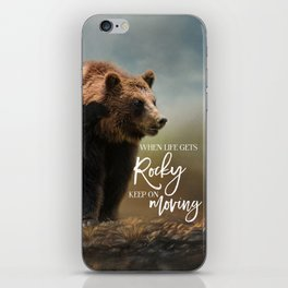 Grizzly On The Rocks iPhone Skin