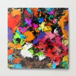 Artistic Messy Abstract Metal Print
