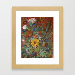 flower 2【Japanese painting】 Framed Art Print