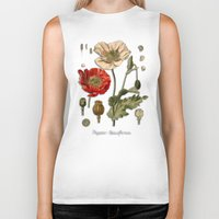poppy Biker Tanks featuring Poppy by jbjart