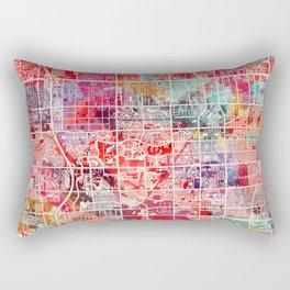 Pembroke Pines map Florida painting 2 Rectangular Pillow