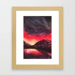 The Infinite Afterburn - Print Framed Art Print