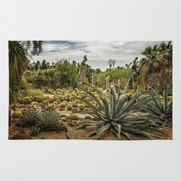 Succulents at Huntington Desert Garden No. 3 Rug