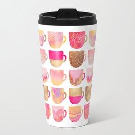 Pretty Pink Coffee Cups Travel Mug