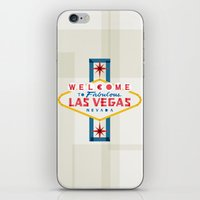 las vegas iPhone & iPod Skins featuring Las Vegas by Fimbis