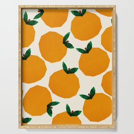 Abstraction_Orange_Fruit Serving Tray
