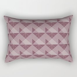 Simple Geometric Pattern 1in Mulberry Rectangular Pillow